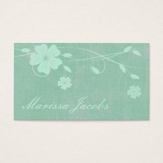 Mit Blumen mit Visitenkarte