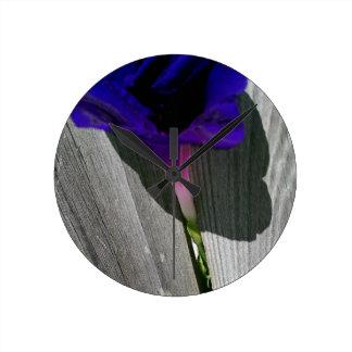 Mit Blumen Runde Wanduhr