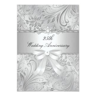 Mit Blumen u. beugen Sie 25. Hochzeitstag einladen 12,7 X 17,8 Cm Einladungskarte