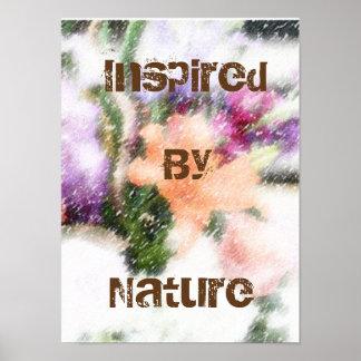 Mit Blumeninspiriertes durch Natur-Kunst-Plakat Poster