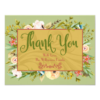 Mit Blumenpersonalisiertes danken Ihnen zu Karte