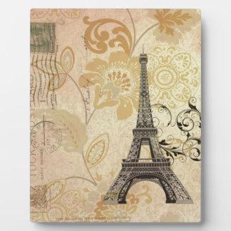 Mit Blumenturm Mod-Girly Vintager Paris Eiffel Fotoplatte