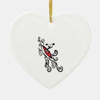 MIT DEM FLUSS KERAMIK Herz-Ornament