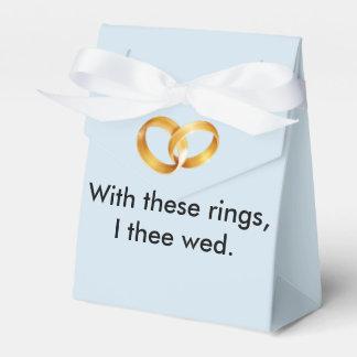 Mit diese Ringe I thee wed Geschenkschachtel