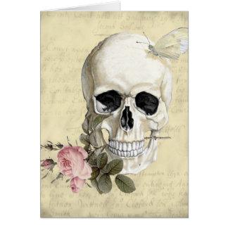 Mit einer Rose zwischen meinen Zähnen Karte