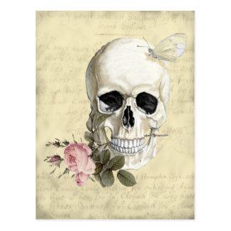 Mit einer Rose zwischen meinen Zähnen Postkarte