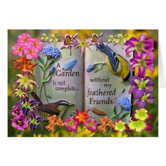 Mit Federn versehene Freunde Grußkarte