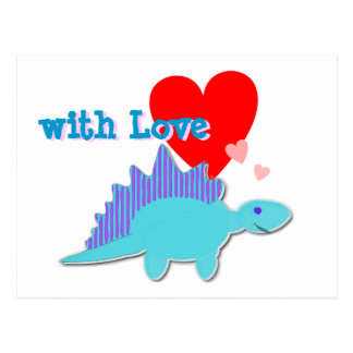 mit Liebe-niedlicher Postkarte
