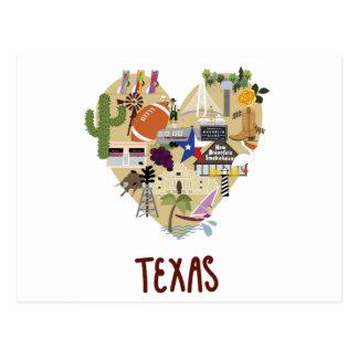 Mit Liebe vom großen Staat von Texas-Postkarte Postkarte