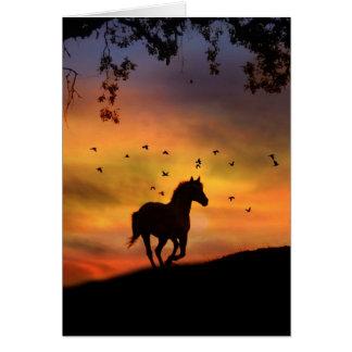 Mit liebevoller Erinnerungens-PferdeBeileids-Karte Grußkarte