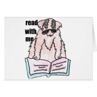 mit mir Hund gelesen Karte