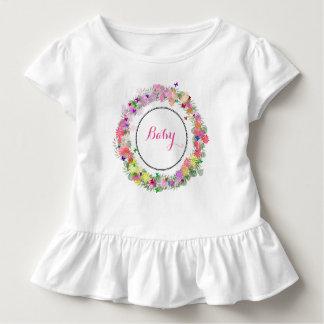 Mit Monogramm Baby gekräuseltes Kleid