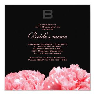 Mit Monogramm Brautparty-Einladung Quadratische 13,3 Cm Einladungskarte