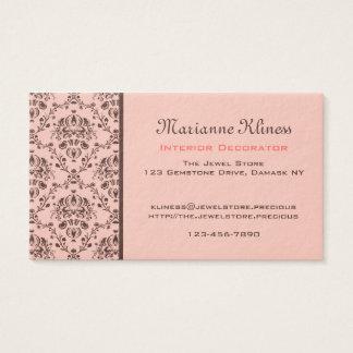Mit Monogramm eleganter schokoladenbrauner Visitenkarte