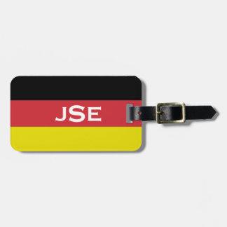 Mit Monogramm ~ Flagge von Deutschland Kofferanhänger
