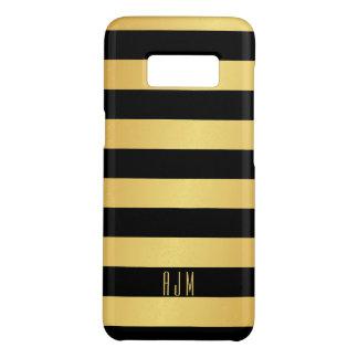 Mit Monogramm Goldstreifen über schwarzem Case-Mate Samsung Galaxy S8 Hülle