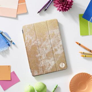 Mit Monogramm Imitatgoldfolien-Weißmarmor iPad Pro Cover