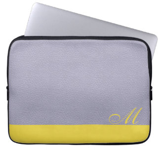 Mit Monogramm Lavendel-Zitronen-Laptop-Hülse Laptop Sleeve