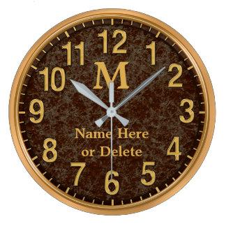 Mit Monogramm personalisierte Uhr Browns und des