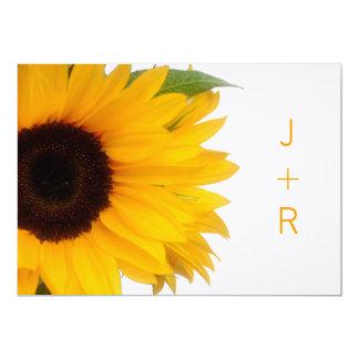 Mit Monogramm Sonnenblume-Save the Date Mitteilung 12,7 X 17,8 Cm Einladungskarte