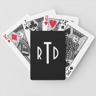 Mit Monogramm Spielkarten