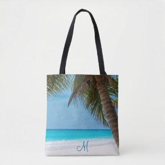 Mit Monogramm Strand-Taschen mit Palmen Tasche