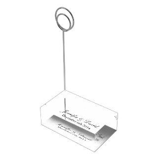 Mit Monogramm TabellenKartenhalter für elegante