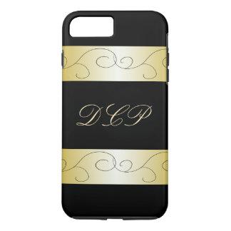 Mit Monogramm verziertes schwarzes Gold Trendy iPhone 8 Plus/7 Plus Hülle
