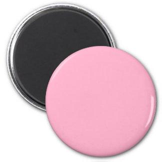 Mit nichts auf ihm schließen Sie Farbe - Rosa aus Runder Magnet 5,1 Cm