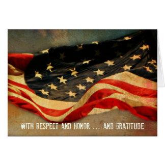 Mit Respekt Ehre - danke Veteranen-Tageskarte Karte