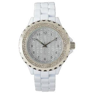 Mit Rüschen besetztes bräutliches weißes Armbanduhr