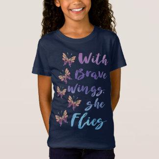 Mit tapferen Flügeln fliegt sie T-Shirt