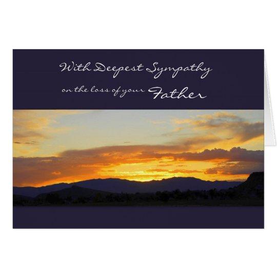 Mit tiefstem Beileid auf dem Verlust Ihres Vaters Grußkarte
