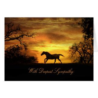 Mit tiefster Beileids-PferdeBeileids-Karte Grußkarte