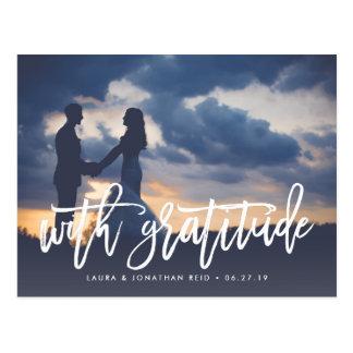 Mit Wedding Foto der Dankbarkeits-| danke Postkarten
