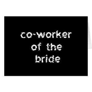 Mitarbeiter der Braut Karte