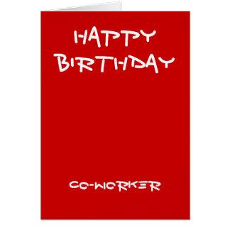 Mitarbeiter-Geburtstagskarten Karte