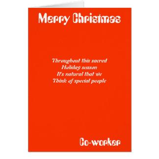 Mitarbeiter-Weihnachtsgrußkarten Karte
