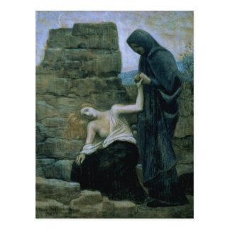 Mitleid, 1887 postkarte