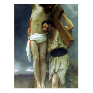 Mitleid durch William-Adolphe Bouguereau Postkarte