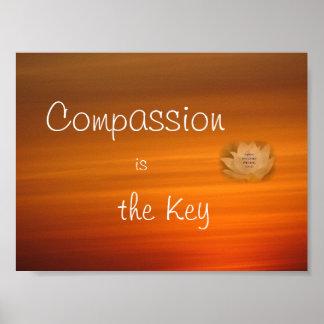 Mitleid ist das Schlüsselplakat Poster
