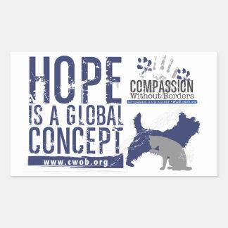 Mitleid ist ein globales Konzept Rechteckiger Aufkleber
