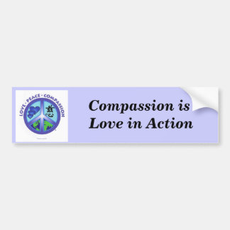 Mitleid ist Liebe im Aktions-Autoaufkleber Autoaufkleber