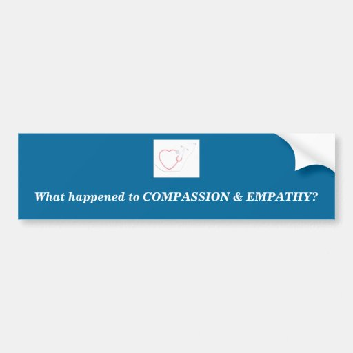 Mitleid und Empathie Autosticker