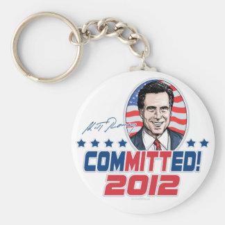 Mitt Romney legte Gang 2012 fest Standard Runder Schlüsselanhänger