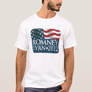 Mitt Romney Paul Ryan 2012 verblaßt T-Shirt