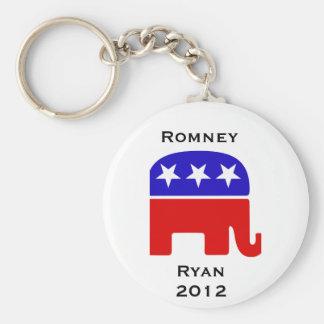 Mitt Romney-Wahlkampf-Produkte Standard Runder Schlüsselanhänger