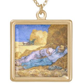 Mittag Vincent van Goghs  , der Siesta, nach Hirse Vergoldete Kette