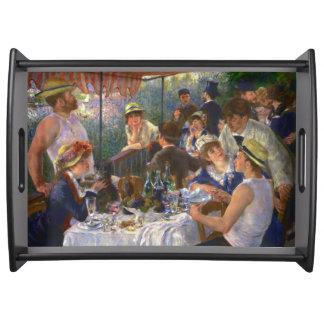 Mittagessen der Bootfahrt-Party Renoir feinen Serviertablett