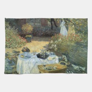 Mittagessen durch Claude Monet, Vintager Handtuch
